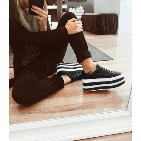 Tequila Stripes Black Sneakers